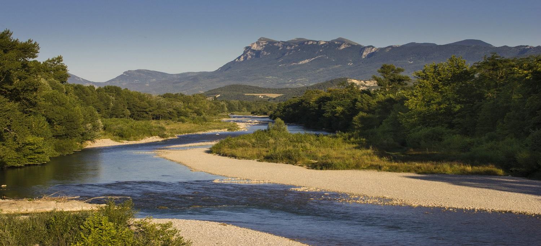 La Drôme, à 6 km de la maison, source de rafraîchissement durant l'été