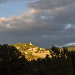 Le village de Montclar depuis la maison