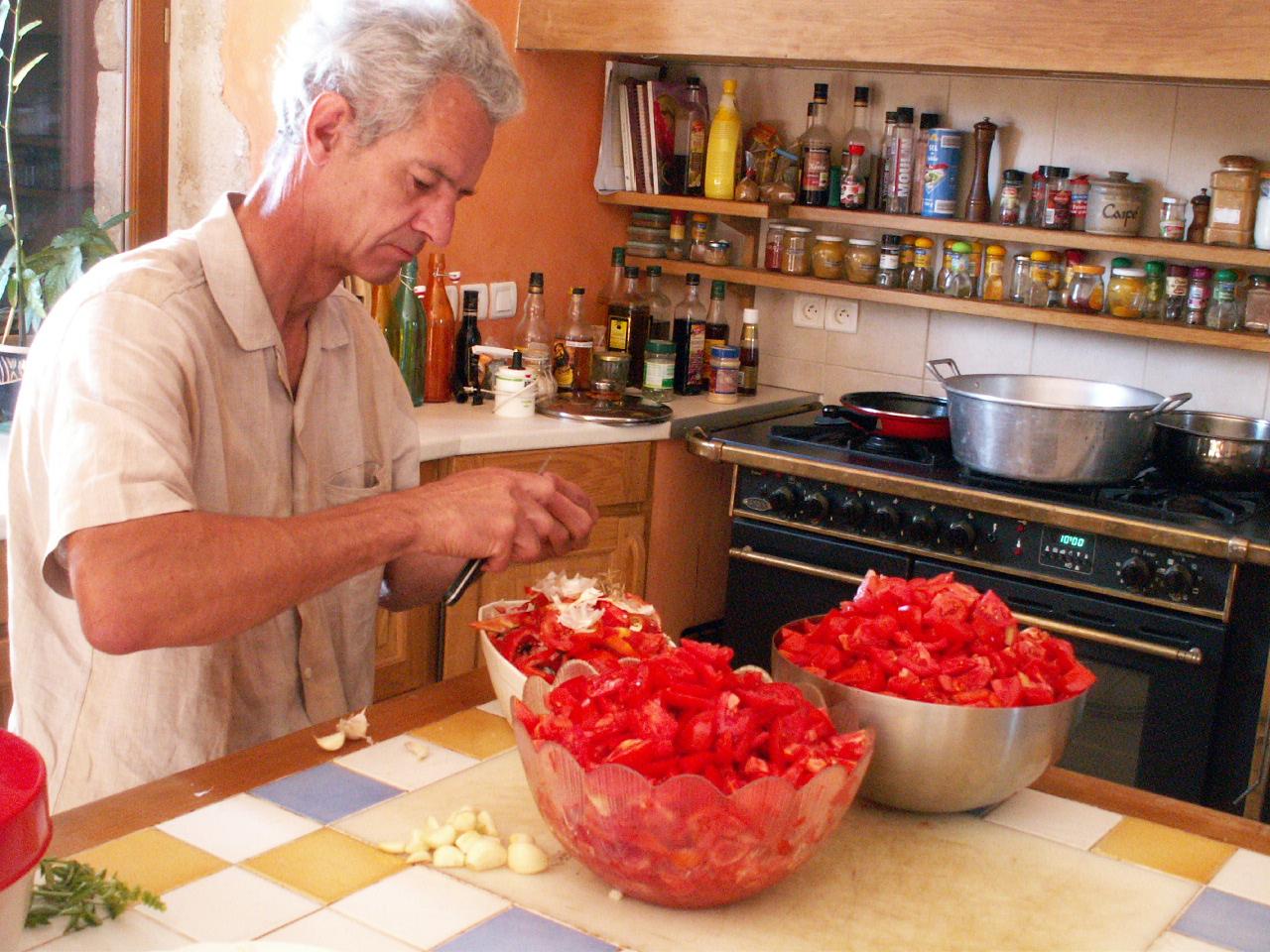 Préparation du coulis de tomates maison
